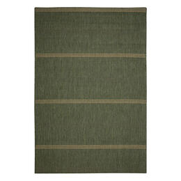 Pawleys Island Inlet Stripe Green Porch Rug