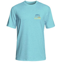 Quiksilver Men's Heritage Surf Heather Short Sleeve Rashguard