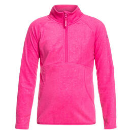 Roxy Girl's Cascade Half Zip Fleece Shirt