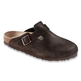 Birkenstock Men's Boston Soft Footbed Suede Clogs Mocha