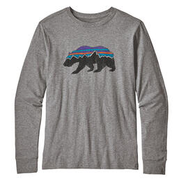 Patagonia Boy's Long-Sleeved Fitz Roy Bear Graphic Organic T Shirt