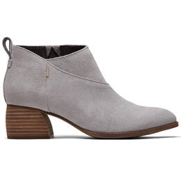 Toms Women's Leilani Drizzle Grey Suede Booties
