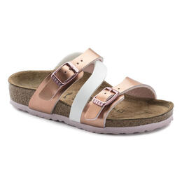 Birkenstock Girls Salina Birko Flor Casual Sandals Soft Metallics