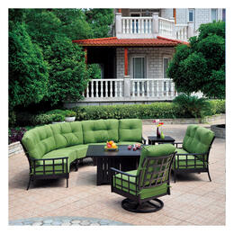 Hanamint Stratford Terra Mist 6 Piece Deep Seating With Fire Pit