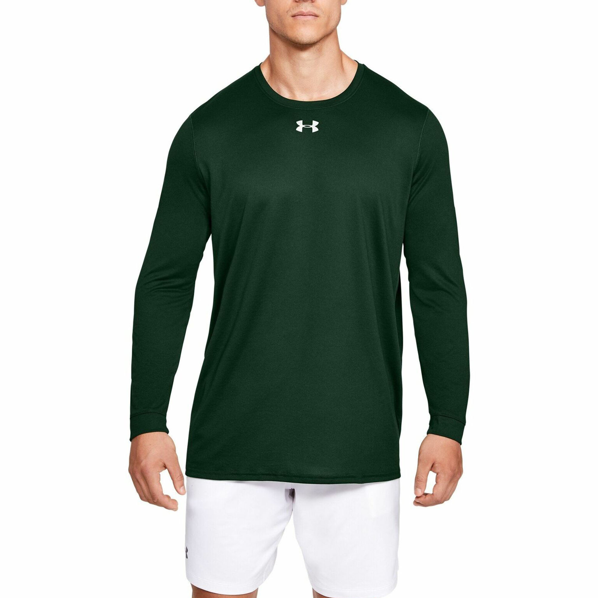 Small, Maroon-Metallic Silver Under Armour Mens UA Locker 2.0 Long Sleeve Shirt