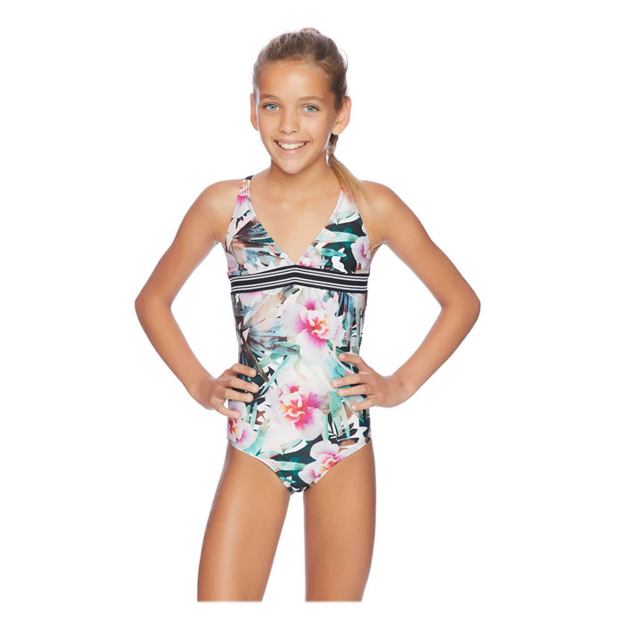 2dfef7cfd344a Next By Athena Girl's Undercover Tropics Halter One Piece Swimsuit ...