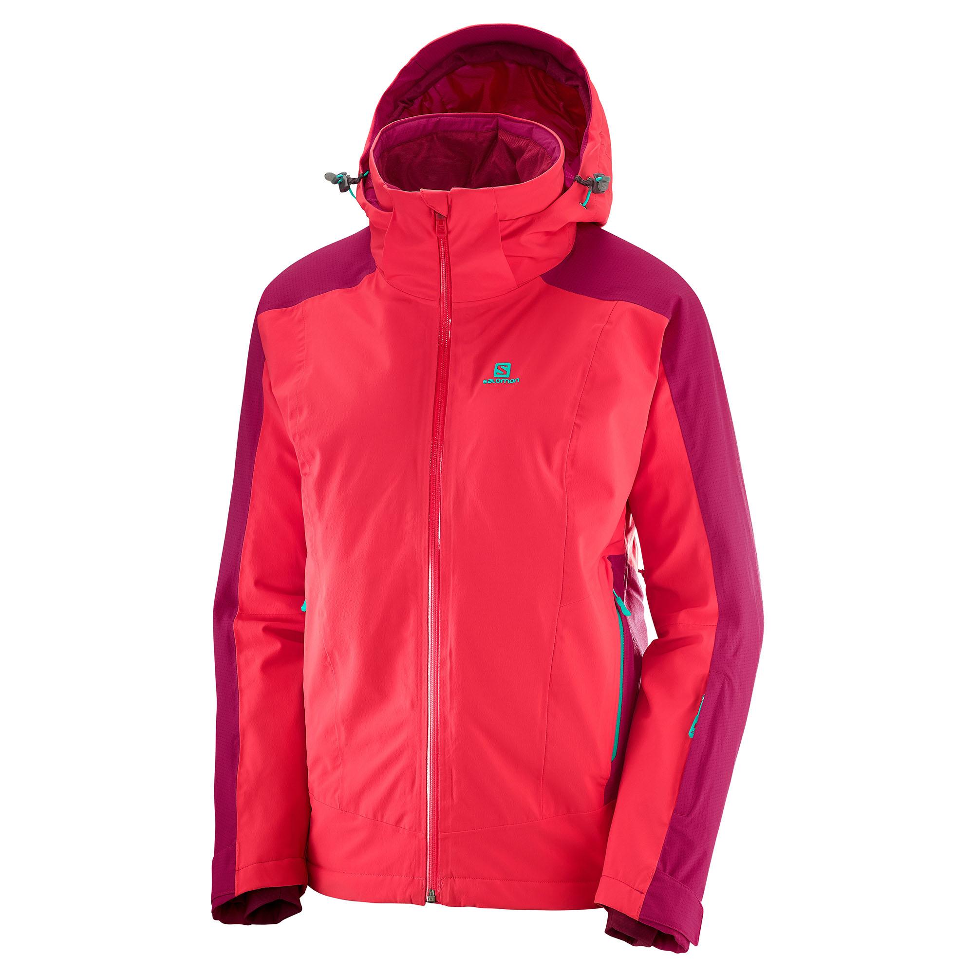 Salomon Women's Brilliant Ski Jacket, HibiscusCerise