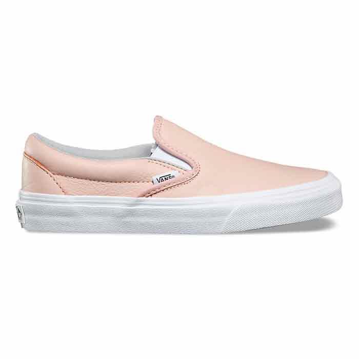 30b2f718537e91 Vans Women s Leather Classic Slip-On Evening Sand Shoes - Sun   Ski ...