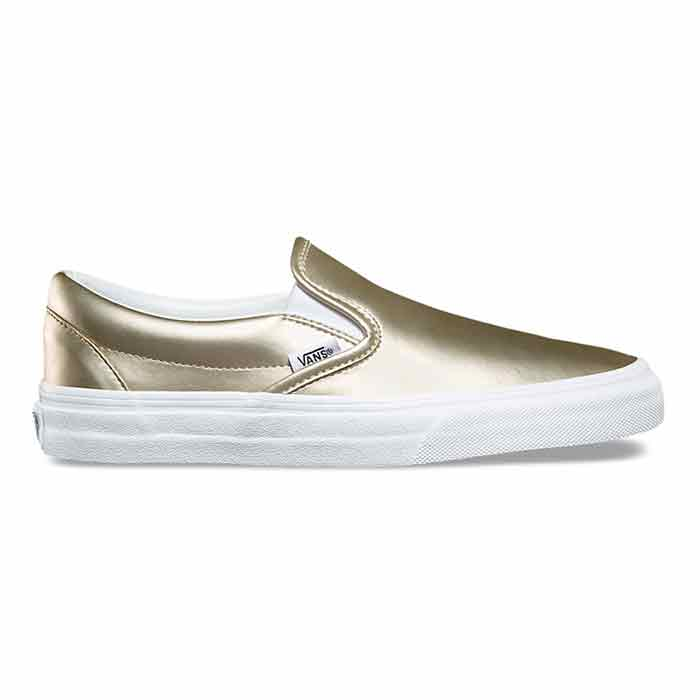 247248161354af Vans Women s Muted Metallic Classic Slip-On Gold Shoes - Sun   Ski Sports