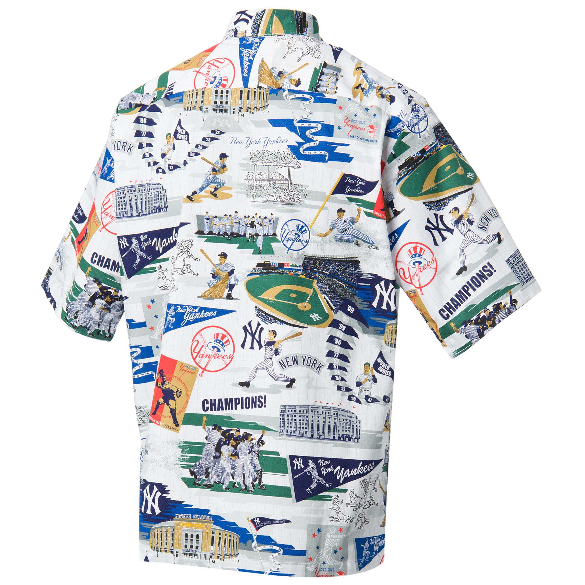 cc6e3413 Reyn Spooner Men's New York Yankees Scenic MLB Button Front Shirt ...