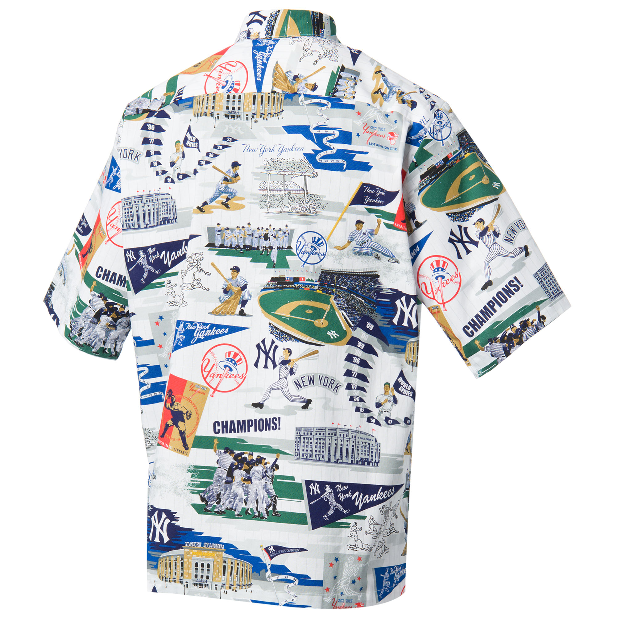 382849a2 Reyn Spooner Men's New York Yankees Scenic MLB Button Front Shirt ...