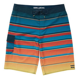 Billabong Boy's All Day X Stripe Boardshorts Blue
