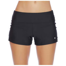 Next By Athena Women's Good Karma Jump-Start Mid Rise Swim Shorts