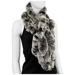 Mitchies Matchings Women's Rabbit Fur Ruffles Scarf