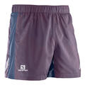 Salomon Men's Agile Running Shorts Purple Front