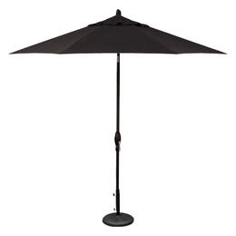 Treasure Garden 9' Auto Tilt Umbrella - Black with Black