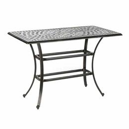 "Alfresco Home Porto 54"" x 28"" Rectangle Gathering Table with Umbrella Hole"