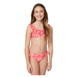 O'Neill Girl's Palm Ruffle Top Swim Set
