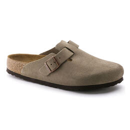 Birkenstock Women's Boston Soft Footbed Clogs Taupe - Narrow
