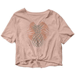 Roxy Women's Pineapple Sun Tie-Hem T Shirt