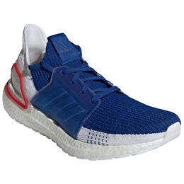Adidas Men's Ultraboost Running Shoes 19 White/Blue