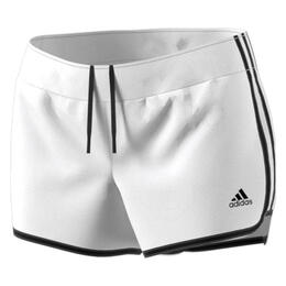 Adidas Women's M10 Icon Woven Running Shorts White