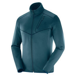 Salomon Men's Discovery Full Zip Top, Reflecting Heather