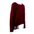 Love Stitch Women's Crochet Fringe Sweater
