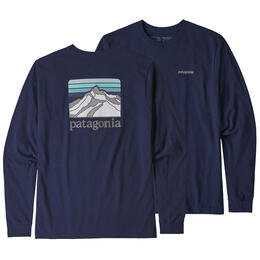Patagonia Men's Long Sleeved Line Logo Ridge Responsibili-Tee Shirt