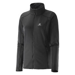 Salomon Women's Discovery Full Zip Fleece Jacket Black