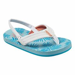 Reef Girl's Little Reef Footprints Sandals