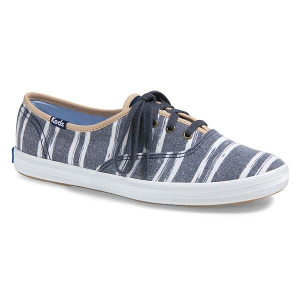 Keds Women's Champion Washed Beach Stripe Casual Shoes