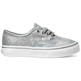 Vans Girl's Authentic Metallic Glitter Casual Shoes