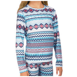Hot Chillys Girl's Print Crewneck Baselayer Top