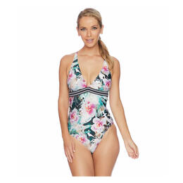 Next By Athena Women's Undercover Tropics Strappy One Piece Swimsuit