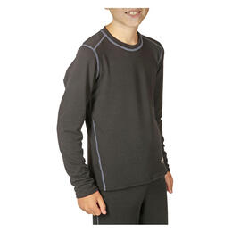 Hot Chillys Boy's Micro Elite Youth Baselayer Top Black
