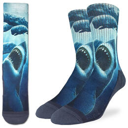Good Luck Socks Men's Shark Attacking Whales Socks