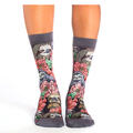 Good Luck Socks Women's Floral Sloths Socks