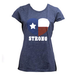 Women's Texas Strong Heart T Shirt