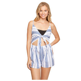 Salt And Jade Women's Havana Stripe Denim Romper