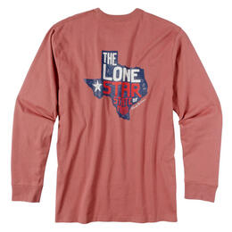 Rowdy Gentleman Men's Lone Star State Long Sleeve Pocket Tee Shirt