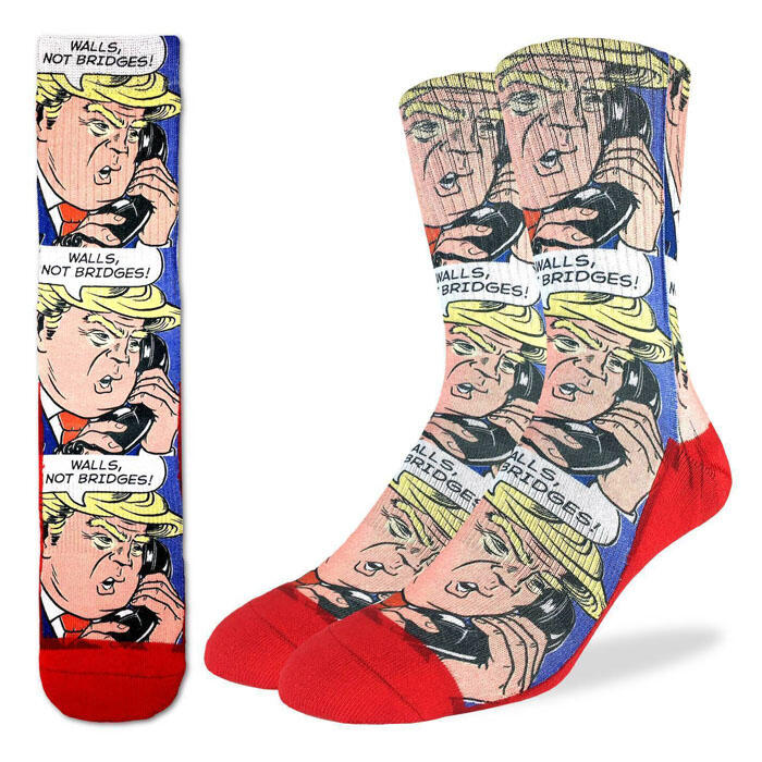 Good Luck Socks Men's Donald Trump Pop Art