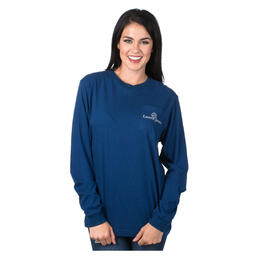 Lauren James Women's Seersucker Football T-shirt