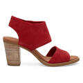 Toms Women's Majorca Cutout Sandals Red