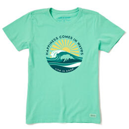 Life Is Good Women's Happy Waves Crusher T Shirt