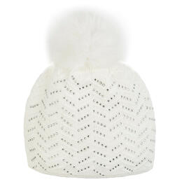Mitchie's Matchings Women's Snap Fox Pom Knit Beanie