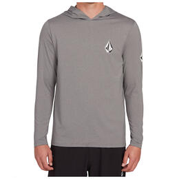 Volcom Men's Deadly Stones Long Sleeve Hooded Rashguard