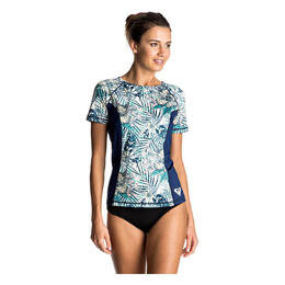 Roxy Women's Four Shore Short Sleeve Rashguard