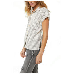 O'neill Women's Neena Plaid Camp Short Sleeve Button Up Top