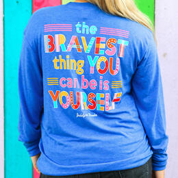 Jadelynn Brooke Women's Bravest Thing Long Sleeve Crew Neck T-Shirt